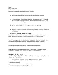 Where the Red Fern Grows Worksheet Collection