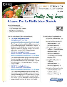 Healthy Body Image: A Lesson Plan for Middle School Students Lesson Plan