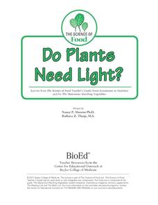 Do Plants Need Light? Lesson Plan