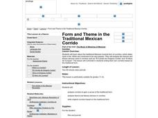 Form and Theme in the Traditional Mexican Corrido Worksheet
