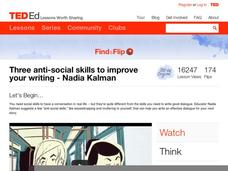Three Anti-Social Skills to Improve Your Writing Video