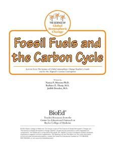Fossil Fuels and the Carbon Cycle Lesson Plan
