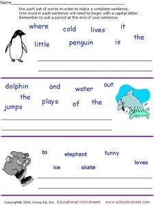 Forming Sentences Worksheet