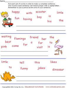 Linking Verbs Worksheets Pdf Jumbled Sentences Lesson Plans  Worksheets Reviewed By Teachers Angles Worksheet Ks2 Pdf with Monohybrid Cross Worksheet Forming Sentences Worksheets For Class 3 Maths Pdf