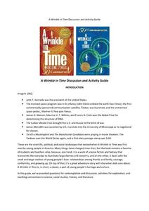 A Wrinkle in Time Discussion and Activity Guide Activities & Project