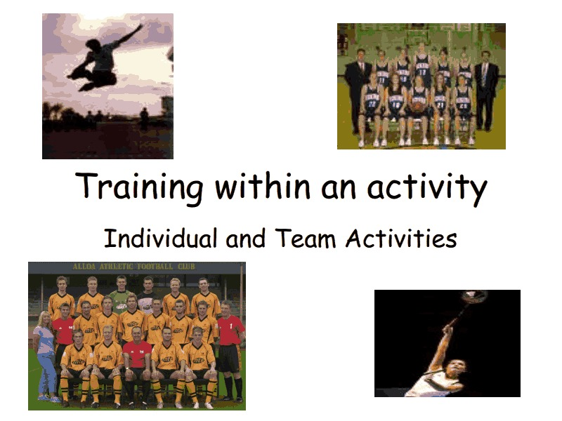 Training Within an Activity Presentation