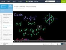 Conic Sections: Intro to Circles Video
