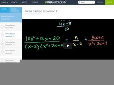 Partial Fraction Expansion 2 Video