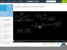 Triangle Medians and Centroids (2D Proof) Video