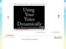 Public Speaking Tip for Kids - Using Your Voice Dynamically Video