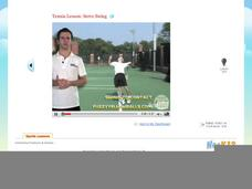 Tennis Lesson: Serve Swing Video