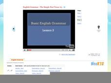 Basic English Grammar - The Simple Past Tense #3 Video