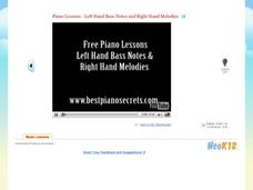 Piano Lessons - Left Hand Bass Notes & Right Hand Melodies Video