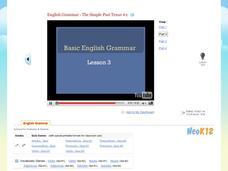 Basic English Grammar - The Simple Past Tense #2 Video