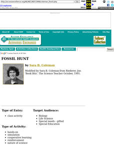 Fossil Hunt Lesson Plan