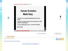 Human Evolution Made Easy Video