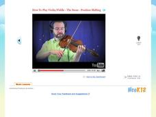 How To Play Violin/Fiddle - The Swan - Position Shifting Video