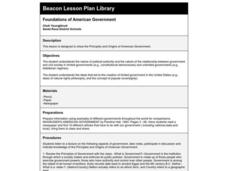 Foundations of American Government Lesson Plan