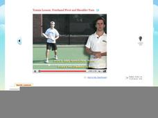 Tennis Lesson: Forehand Pivot and Shoulder Turn Video