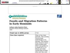 Fossils And Migration Patterns in Early Hominids Lesson Plan