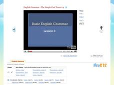 Basic English Grammar - The Simple Past Tense #4 Video