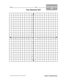 Graphing Four Quadrants Lesson Plans & Worksheets