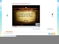 Achievements of Leonardo Da Vinci Video