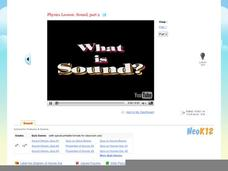 Physics : What is Sound Part 2 Video