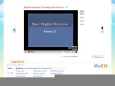 Basic English Grammar - The Simple Past Tense #1 Video