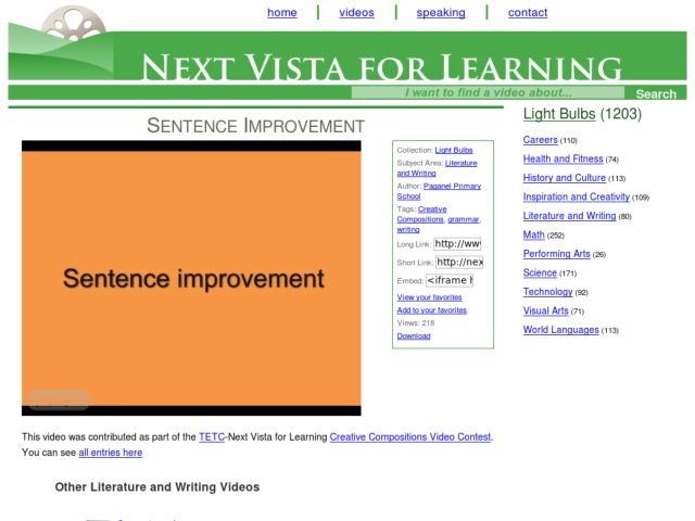 Sentence Improvement Video