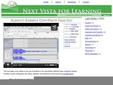 Audacity Example Copy/Paste Fade Out Video