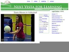 underhand volleyball serve lesson plan