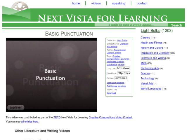 Basic Punctuation Video