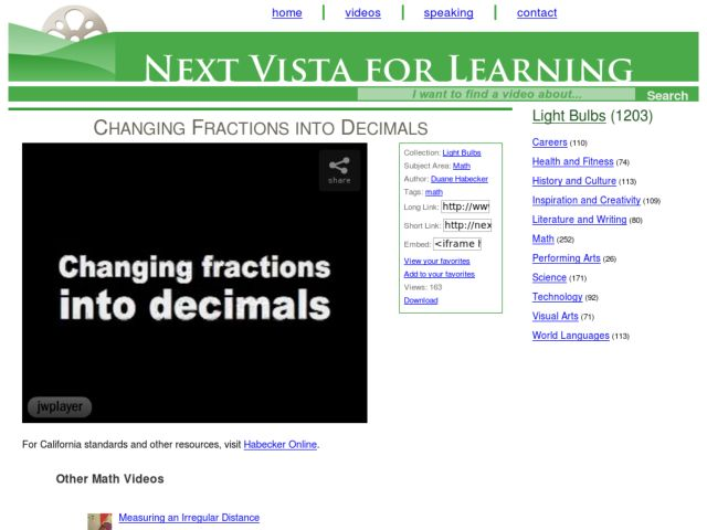 Changing Fractions Into Decimals Video