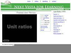 Finding Unit Ratios Video