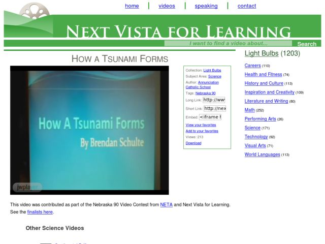 How a Tsunami Forms Video