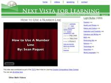 How to Use a Number Line Video