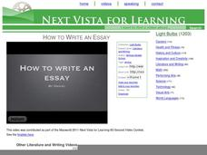 How to Write an Essay Video