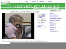 Public Relations Administrator Video