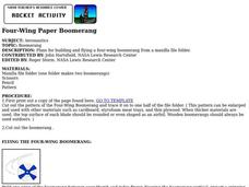 Four-Wing Paper Boomerang Lesson Plan