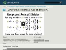 What's the Reciprocal Rule of Division? Video