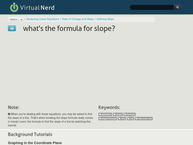 What's the Formula for Slope? Video