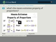 What's the Means-Extremes Property of Proportions? Video