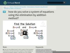 How Do You Solve a System of Equations Using the Elimination by Addition Method? Video