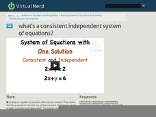 What's a Consistent Independent System of Equations? Video
