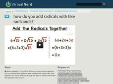How Do You Add Radicals With Like Radicands? Video