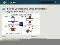 How Do You Identify a Three-Dimensional Figure from a Net? Video