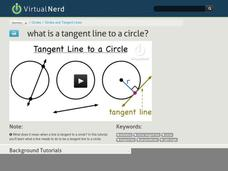 What is a Tangent Line to a Circle? Video