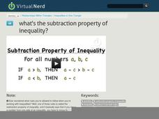 What's the Subtraction Property of Inequality? Video