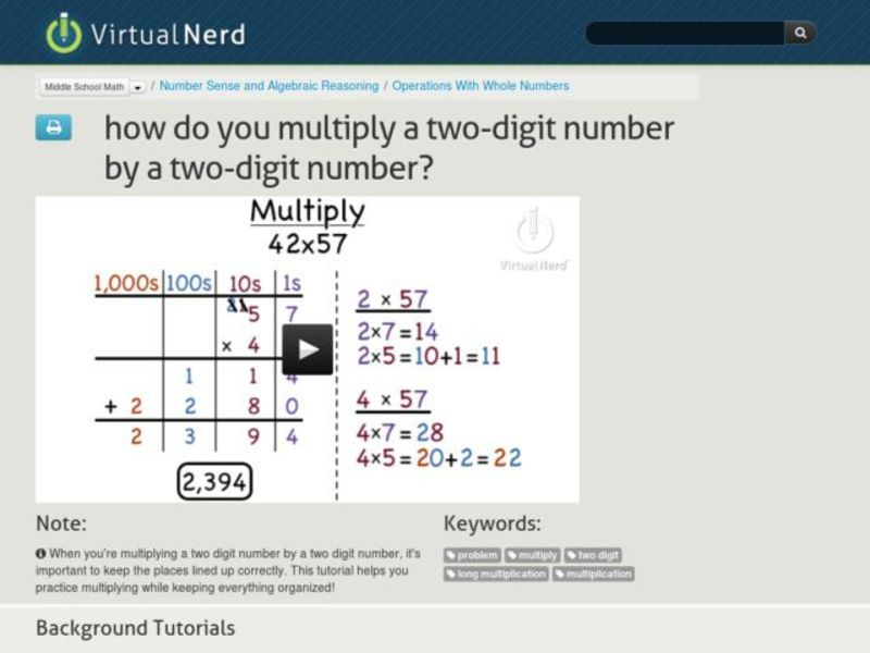 How Do You Multiply a Two-Digit Number by a Two-Digit Number? Video